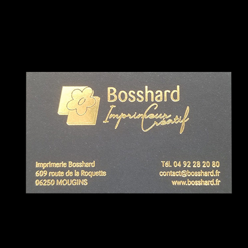 Carte de visite Bosshard or à chaud